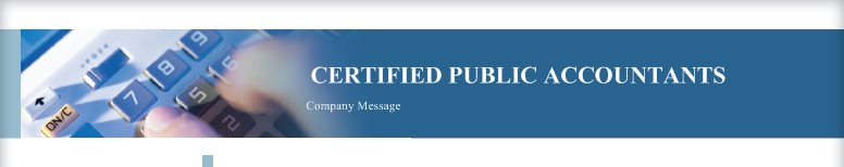CERTIFIED PUBLIC ACCOUNTANTS - Company Message